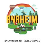 anaheim city travel destination ... | Shutterstock .eps vector #336798917