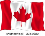 canadian wavy flag isolated on... | Shutterstock .eps vector #3368000