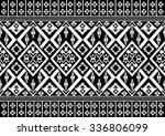 geometric ethnic pattern... | Shutterstock .eps vector #336806099