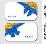 illustration gift cards with... | Shutterstock .eps vector #336806201