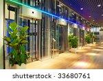 glass lift lobby in a modern... | Shutterstock . vector #33680761