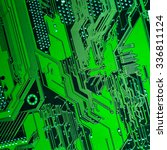 circuit board. electronic... | Shutterstock . vector #336811124