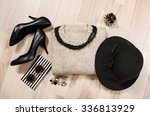 winter sweater and accessories... | Shutterstock . vector #336813929