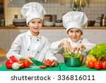 funny happy chef boys cooking...