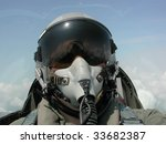 american fighter pilot in flight | Shutterstock . vector #33682387