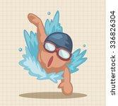 swimmer theme elements | Shutterstock .eps vector #336826304