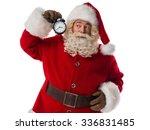 santa claus holding alarm... | Shutterstock . vector #336831485