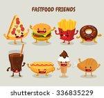 fast food friends. set of fast... | Shutterstock .eps vector #336835229