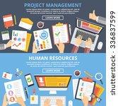 project management  human... | Shutterstock . vector #336837599