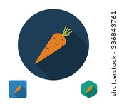 carrot icon  flat design with... | Shutterstock .eps vector #336843761