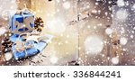 christmas gift boxes  craft... | Shutterstock . vector #336844241