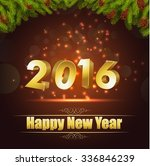 happy new year for 2016... | Shutterstock .eps vector #336846239