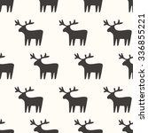 seamless pattern  deer art ... | Shutterstock .eps vector #336855221