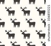 seamless pattern  deer art ... | Shutterstock .eps vector #336855221