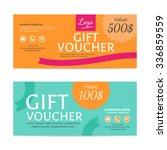 gift voucher template   eps10... | Shutterstock .eps vector #336859559