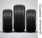 realistic tires  vector | Shutterstock .eps vector #336859721
