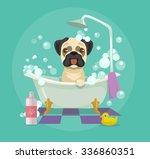 Dog Grooming. Vector Flat...