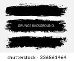Stock vector set of grunge banners grunge backgrounds abstract vector template 336861464