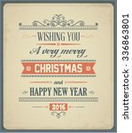 merry christmas and happy new... | Shutterstock .eps vector #336863801