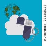 cloud computing design  vector... | Shutterstock .eps vector #336865139