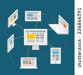 modern digital network abstract ...
