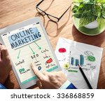 digital online marketing office ... | Shutterstock . vector #336868859