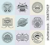 assorted handicraft insignias... | Shutterstock .eps vector #336870419