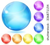 set of opaque spheres of... | Shutterstock . vector #336871154