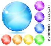 set of opaque spheres of... | Shutterstock . vector #336871154