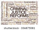 criminal justice reforms word... | Shutterstock . vector #336875081