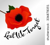 remembrance day vector template | Shutterstock .eps vector #336878351