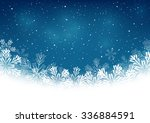 christmas snowflakes on blue... | Shutterstock .eps vector #336884591