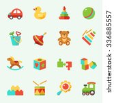 toy icons  flat design | Shutterstock .eps vector #336885557