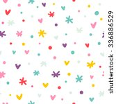 abstract confetti  hearts and...   Shutterstock .eps vector #336886529