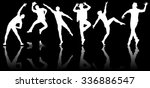silhouettes of dancers in... | Shutterstock . vector #336886547