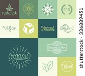 vector set of natural  organic  ... | Shutterstock .eps vector #336889451