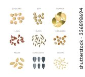 cereal grains flat icons | Shutterstock . vector #336898694