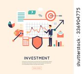 making investments  growing... | Shutterstock .eps vector #336904775