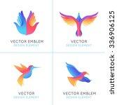 vector set of abstract gradient ... | Shutterstock .eps vector #336906125