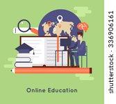 on line education  on line...   Shutterstock .eps vector #336906161