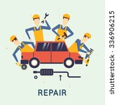 car repair. car service. auto... | Shutterstock .eps vector #336906215