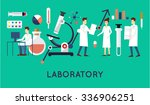 scientists in the laboratory... | Shutterstock .eps vector #336906251