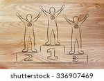 concept of becoming a winner ... | Shutterstock . vector #336907469
