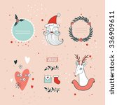 christmas and new year hand... | Shutterstock .eps vector #336909611