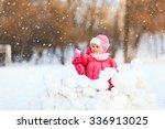 cute happy little girl play in... | Shutterstock . vector #336913025