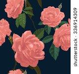 vector illustration of rose... | Shutterstock .eps vector #336914309