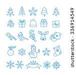 christmas season vector... | Shutterstock .eps vector #336914549