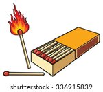 Matchbox And Matches  Safety...