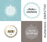 vector christmas and new year... | Shutterstock .eps vector #336917765