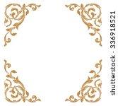 premium gold vintage baroque... | Shutterstock .eps vector #336918521